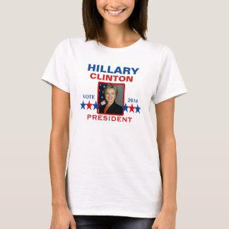 Camiseta Hillary Clinton para o presidente 2016