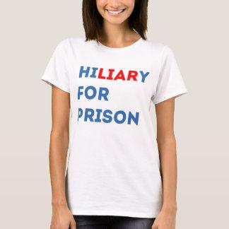 Camiseta Hillary para a prisão