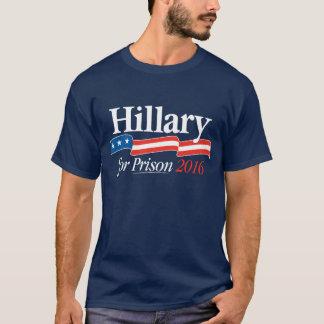 Camiseta Hillary para o t-shirt 2016 da prisão