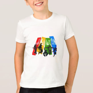 Camiseta hip-hop de 5 danças