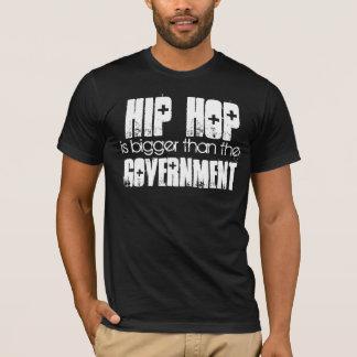 Camiseta HIP HOP mais grande do que o preto do governo