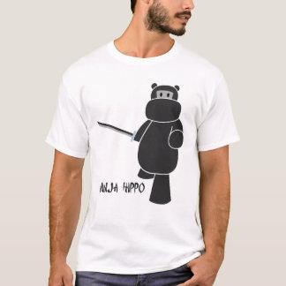 Camiseta Hipopótamo de Ninja - apronte para a batalha