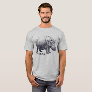 Camiseta Hippopotamus do Vegan