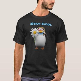 Camiseta Hippy legal do pinguim 3d (editável)