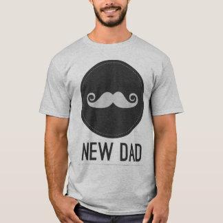 Camiseta Hipster do bigode do novo papai