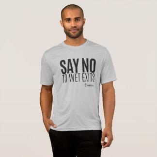 Camiseta Hipster do caiaque - diga não molhar saídas -