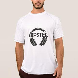 Camiseta Hipster dos fones de ouvido da música