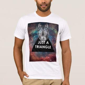 """Camiseta Hipster """"é apenas t-shirt de um triângulo"""""""