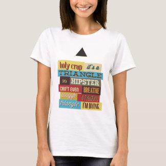 Camiseta hipster e respiração do triângulo