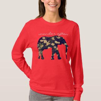 Camiseta Hipster inspirado da margarida da silhueta do