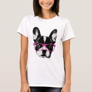 Camiseta Hipster Nerdy da mamã do buldogue francês