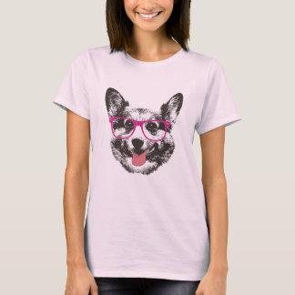 Camiseta Hipster Nerdy do cão do Corgi
