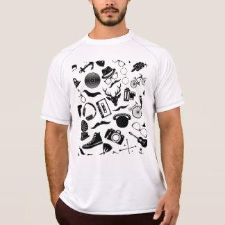 Camiseta Hipster preto do teste padrão