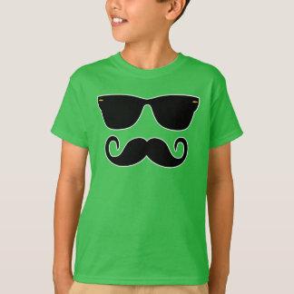 Camiseta Hipster - vidros e 'Stache