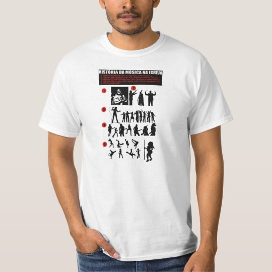Camiseta História da Música na Igreja
