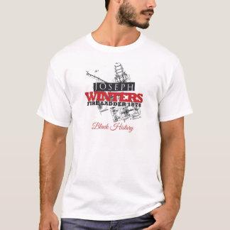Camiseta História preta dos invernos