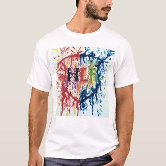 Camiseta HLF molharam o T da pintura
