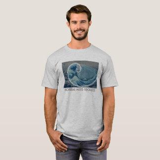 Camiseta Hokusai encontra Fibonacci com seqüência numérica