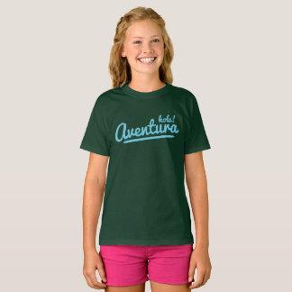 Camiseta Hola Aventura! Olá! a aventura muitos colore