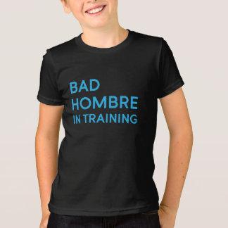 Camiseta Hombre mau no T do miúdo do treinamento