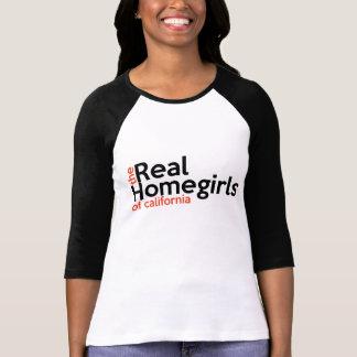 Camiseta Homegirls reais do t-shirt das mulheres de