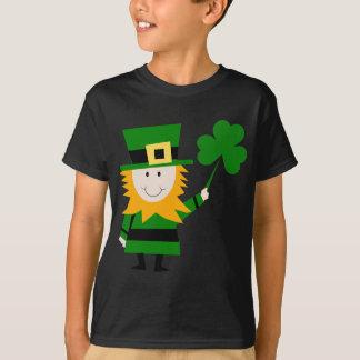 Camiseta Homem afortunado do trevo do Leprechaun