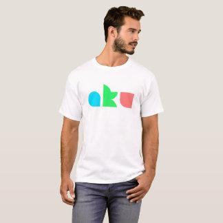 Camiseta Homem básico do branco T do logotipo da cor de AKU