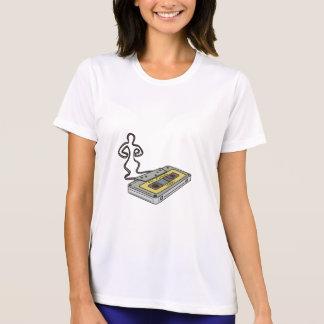 Camiseta Homem compacto da cassete de banda magnética que