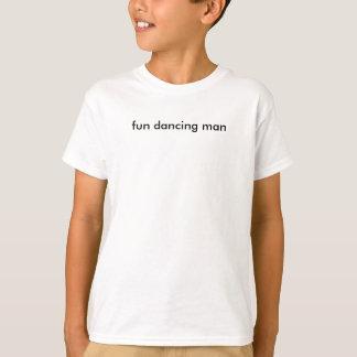 Camiseta homem da dança do divertimento
