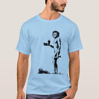 Camiseta Homem das cavernas do fast food