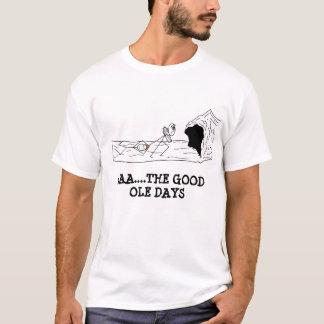 Camiseta homem das cavernas os bons dias velhos, AAA….O BOM