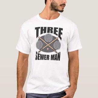 Camiseta Homem de 3 esgotos!