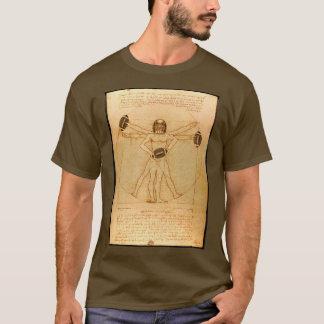 Camiseta Homem de Leonardo Vitruvian como o jogador de