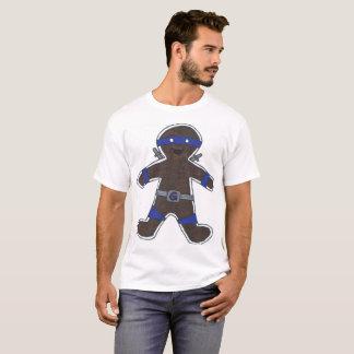 Camiseta Homem de Ninjabread (azul)