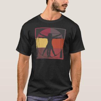 Camiseta Homem de Vitruvian do bloco da cor