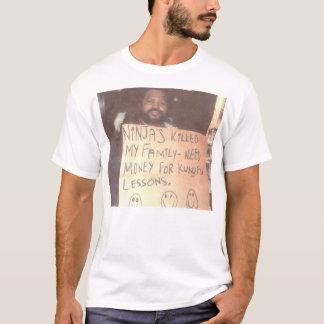 Camiseta Homem desabrigado de Ninja