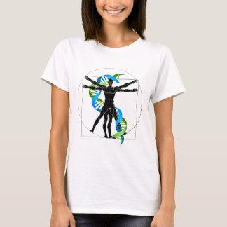 Camiseta Homem do ADN Vitruvian