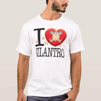 Camiseta Homem do amor do Cilantro