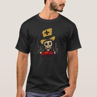 Camiseta Homem do Voodoo com lagostins vermelhos