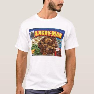 Camiseta Homem irritado do homem com fome