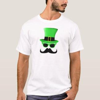 Camiseta Homem legal do chapéu alto do Moustache do dia de