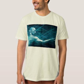 Camiseta Homem que apresenta um conceito como um fundo do