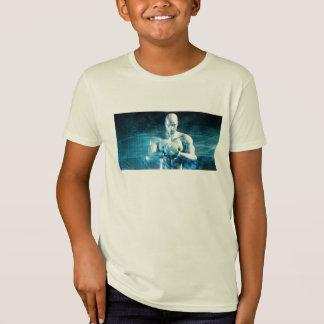 Camiseta Homem que guardara o globo com indústria da