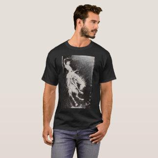 Camiseta Homens ásperos e cavalo Bucking turbulento