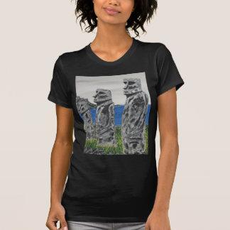Camiseta Homens de pedra da Ilha de Páscoa