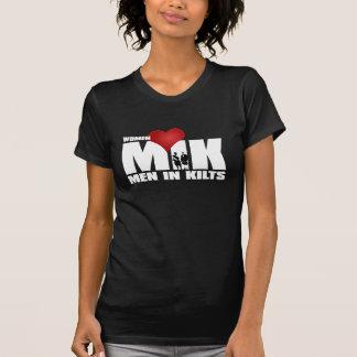 Camiseta Homens do amor das mulheres nos Kilts