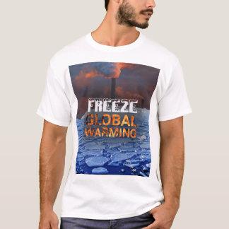 Camiseta Homens do aquecimento global do gelo superiores