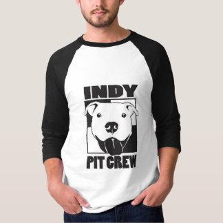Camiseta Homens do grupo de poço de Indy 3/4 de Raglan da