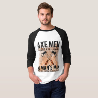 Camiseta Homens do machado