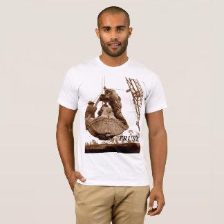 Camiseta Homens do operador de guindaste do vintage na